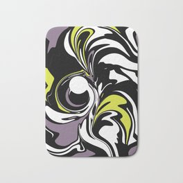 Abstract Fairy in Lime and Purple Bath Mat
