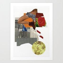 tennis rose Art Print