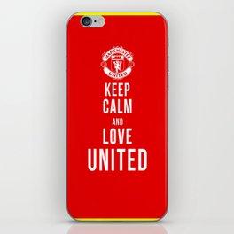 Keep Calm Love United iPhone Skin