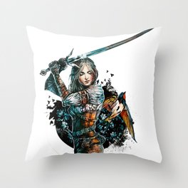 Ciri - The Witcher Wild Hunt Throw Pillow