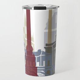 Stuttgart skyline poster Travel Mug