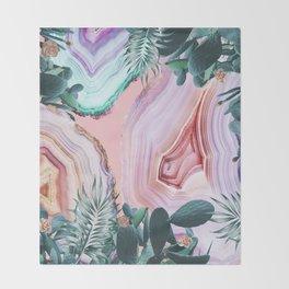 Mineral Agates & Garden #Glam collection Throw Blanket