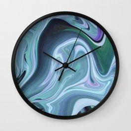 Blue Ocean Wave Abstract Wall Clock