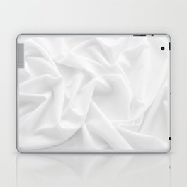 MINIMAL WHITE DRAPED TEXTILE Laptop & iPad Skin