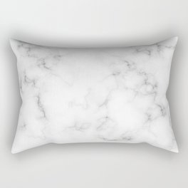 The Perfect Classic White with Grey Veins Marble Rectangular Pillow