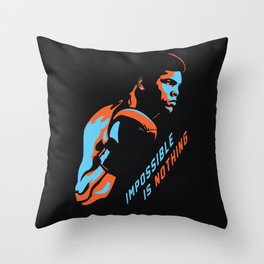 Impossible is Nothing - M. Ali boxer tribute Throw Pillow