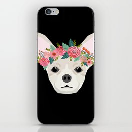 Chihuahua dog breed floral crown chihuahuas lover pure breed gifts iPhone Skin