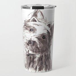 Bon Bon - the cat-like dog Travel Mug