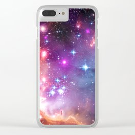 Angelic Galaxy Clear iPhone Case