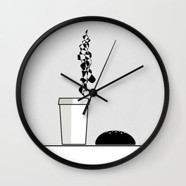 Best company: coffee and bun Wall Clock