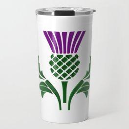 Scottish emblem thistle Travel Mug