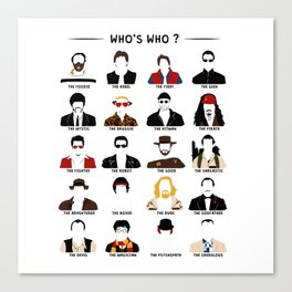 Who's who? Canvas Print