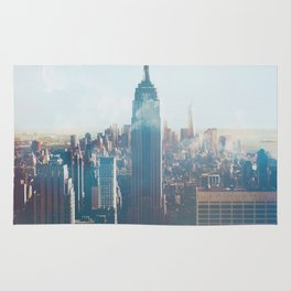 Low Clouds in NYC Rug