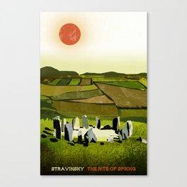 The Rite of Spring - Stravinsky Canvas Print