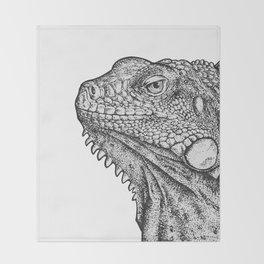 Iguana - Hand Drawn Throw Blanket