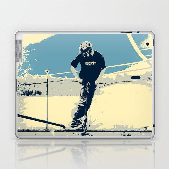 On the Rim - Scooter Boy Laptop & iPad Skin