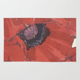 Poppies for remembrance- the cost for peace Rug