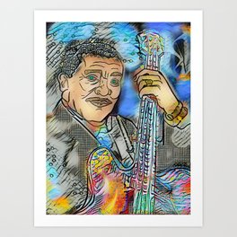 King of Blues Art Print