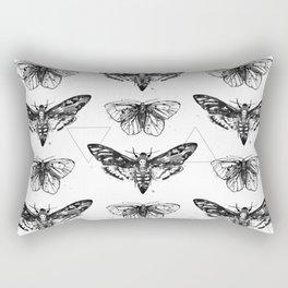 Geometric Moths Rectangular Pillow