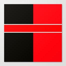 Team Colors 6...red,black,white Canvas Print
