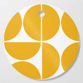 Mid Century Modern Yellow Square Cutting Board