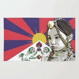 A little Tibetan girl Rug