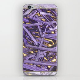 PURPLE KINDLING AND GLOWING EMBERS ABSTRACT iPhone Skin