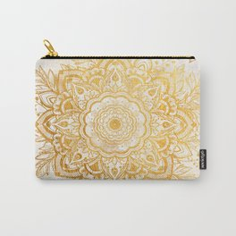 Queen Starring of Mandala-Gold Sunflower I Carry-All Pouch