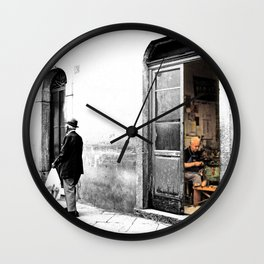 Vulture: old shoemaker Wall Clock