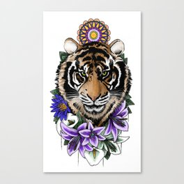 Tiger & Lily Canvas Print