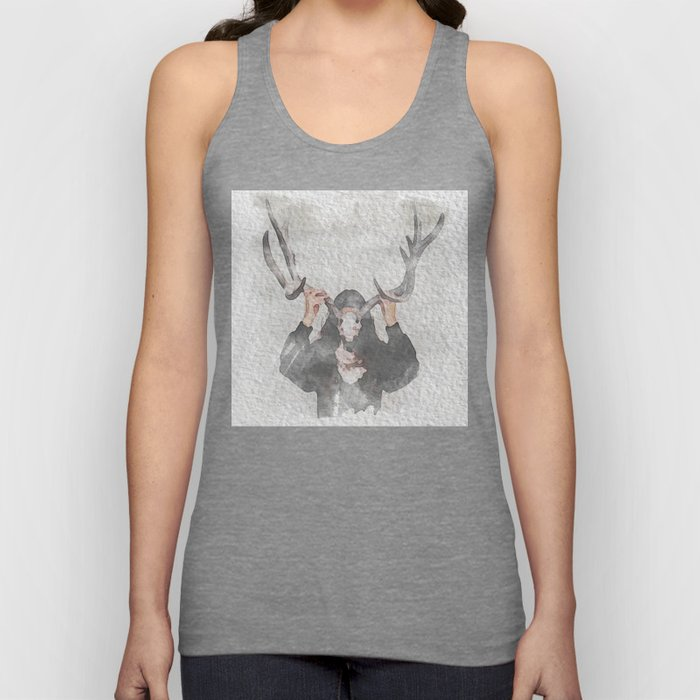 The Girl with Antlers Unisex Tank Top