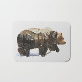Arctic Grizzly Bear Bath Mat