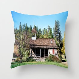 Historical Blanchard Flat Schoolhouse... Throw Pillow