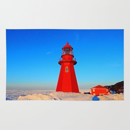 Lighthouse  and Frozen Sea Rug