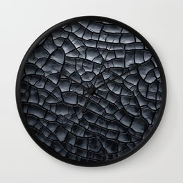Gothic texture | Black and grey texture | Cracked design Wall Clock