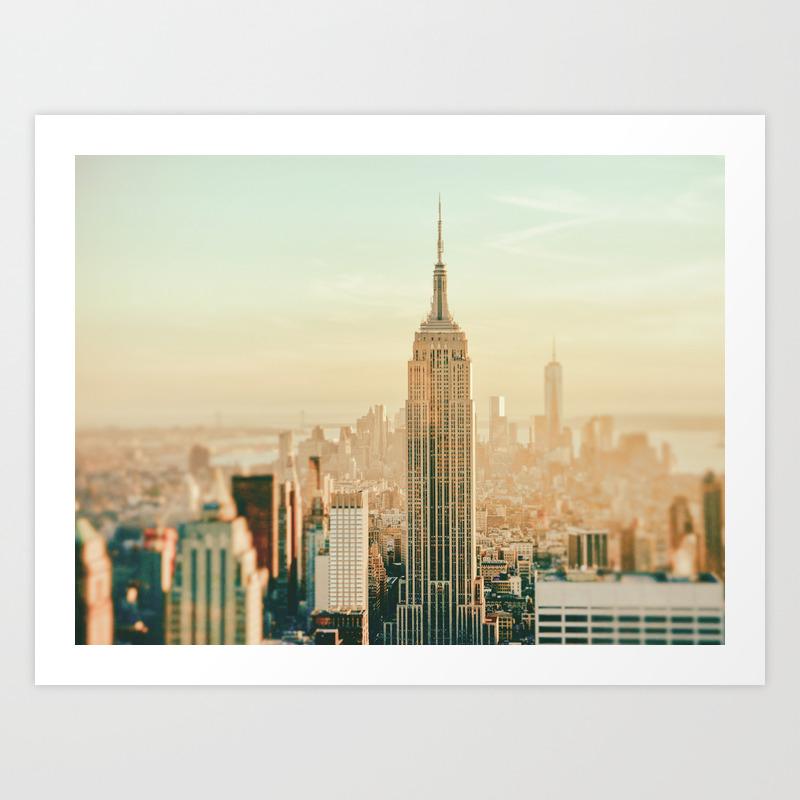 New York City Skyline Dreams Art Print by Newyorkphotography PRN1720489