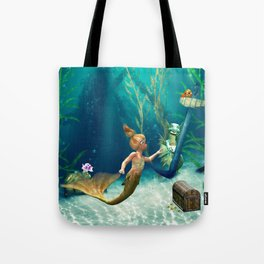 Cute Mermaid 2 Tote Bag
