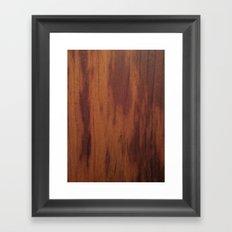Wood Grain Framed Art Print