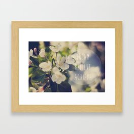 "APPLETREE - ""DREAM, BELIEVE, ACHIEVE"" Framed Art Print"