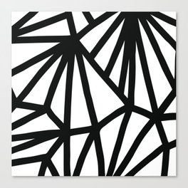 Modern Black and White geometric pattern #abstractart #decor Canvas Print