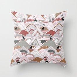 caribou mountains sienna Throw Pillow