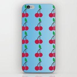 cherries pattern logo iPhone Skin