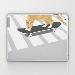 Skateboarding cat Laptop & iPad Skin