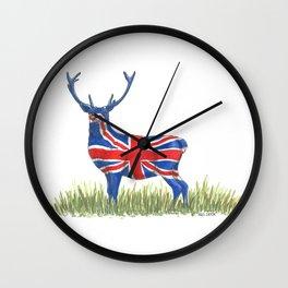 BRITISH Red Deer Wall Clock