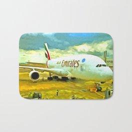 Emirates A380 Airbus Pop Art Bath Mat