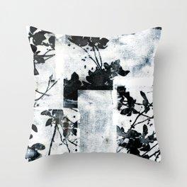 Monochrome Tiles Throw Pillow