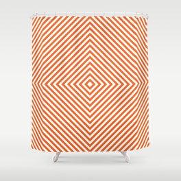 orange diamond Shower Curtain