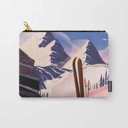 Lake Tahoe vintage ski travel poster Carry-All Pouch