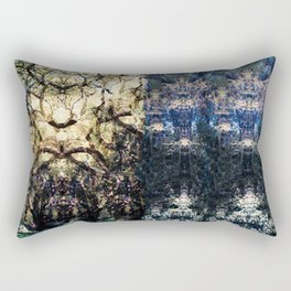 Patterns in Blue and Gold Rectangular Pillow