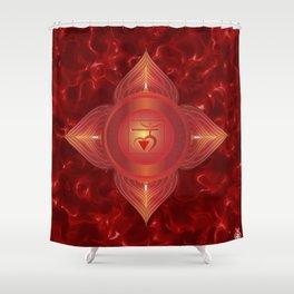 Root Chakra Shower Curtain